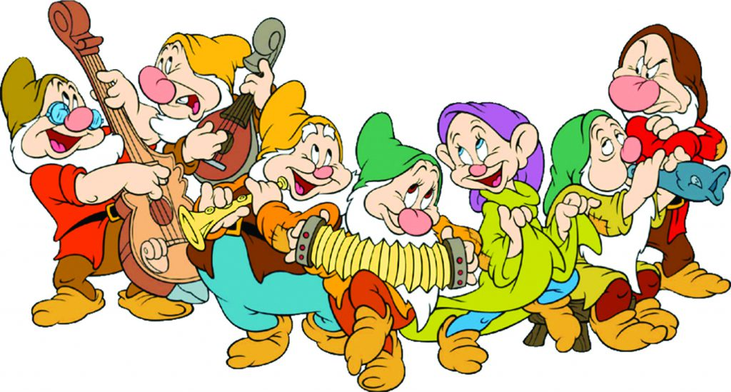 What are the seven dwarfs called from Snow White in Spanish?