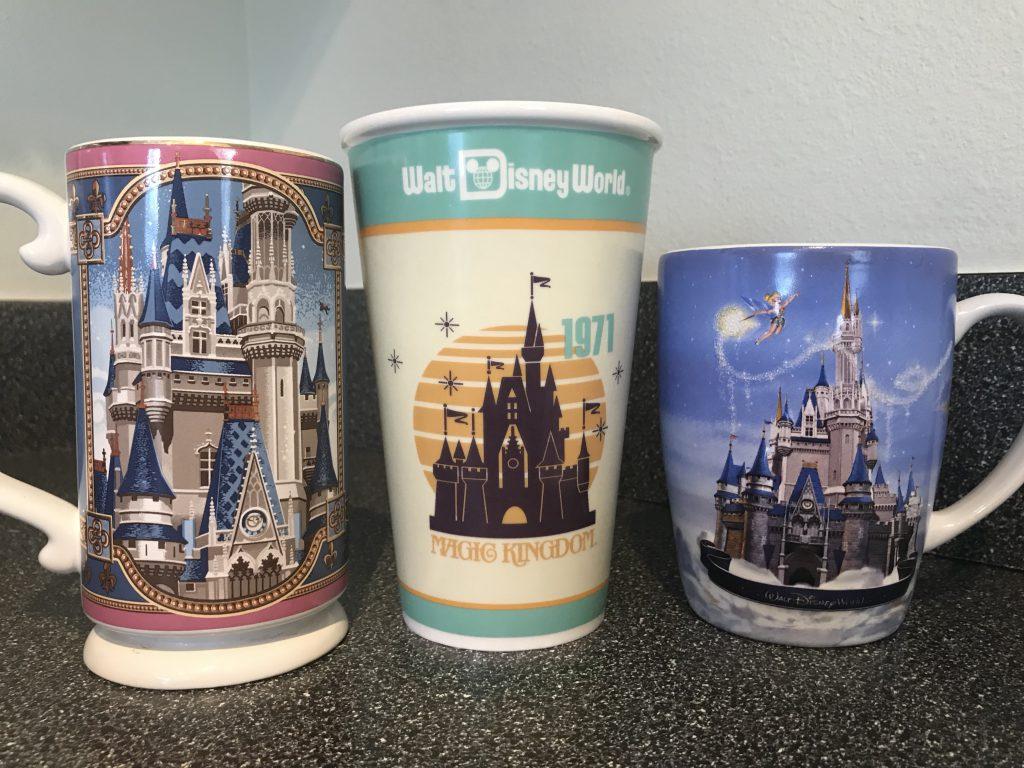 Cinderella Castle Mugs from Walt Disney World