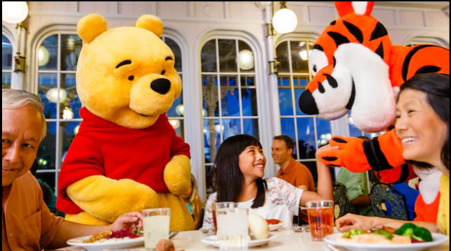 Dining With Winnie the Pooh at the Crystal Palace
